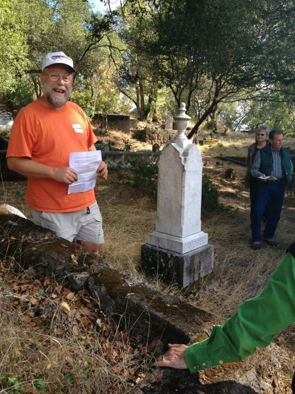 Fred Allebach - guided tour of the Mt. Cemetery