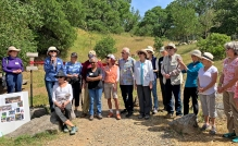 The Sonoma Overlook Trail Stewards: Susan Peterson, Jeni Nichols, Maggie Salenger (sitting), Lori Parmalee, Fred Allebach, Priscilla Miles, Sally Stone, Roy Tennant, April Stark, Mary Nesbitt, John Donnelly, Bill Wilson, Connie Bolduc, Joanna Kemper, Leanna Breese. Not pictured: Lynn Clary, Rich Gibson, Laurell Meredith, Jackie Steuer, Hope Nisson, Karen Collins, Wayne Schake, Ronda Guaraglia, Jaye Hayes.